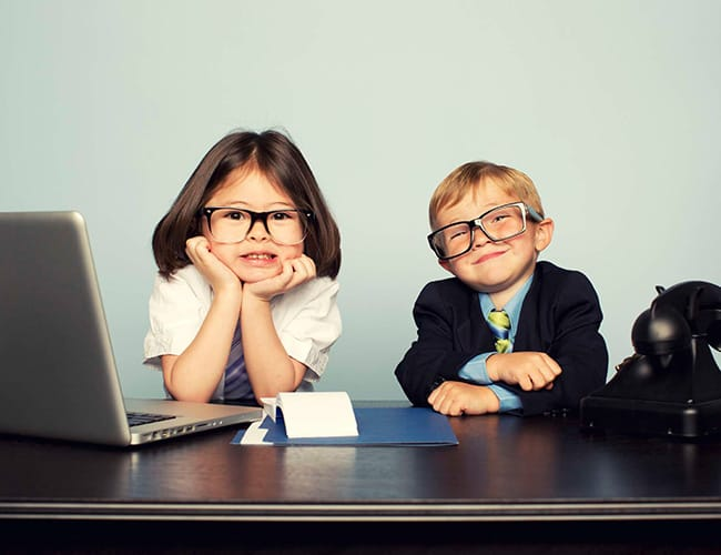 Kids with business attire